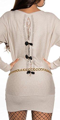 Sexy Pullover mit Strass und Spitze am Rücken Koucla by In-Stylefashion SKU 0000ISF53201 - 1