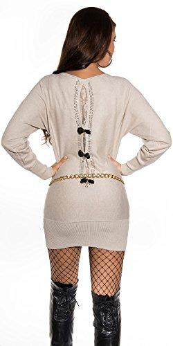 Sexy Pullover mit Strass und Spitze am Rücken Koucla by In-Stylefashion SKU 0000ISF53201 - 3