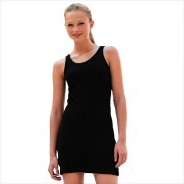 Skinnifit - Extra langes Longtop / Minikleid / Black, L - 2