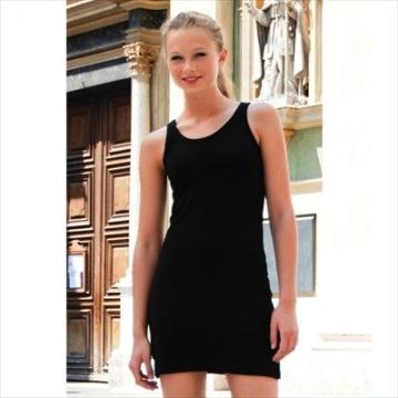 Skinnifit - Extra langes Longtop / Minikleid / Black, L - 3