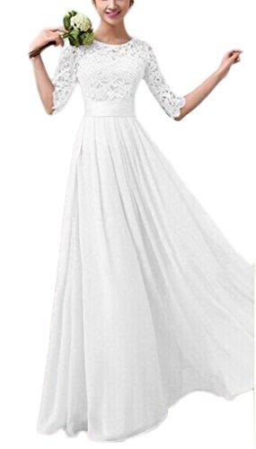 Sonderangebot Qualität zu verkaufen Smile YKK Elegantes Damen 3/4 Ärmel Abendkleid Maxikleid Brautkleid