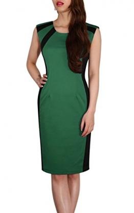 SODACODA Damen wunderschönes Schlankmacher Kleid - Ärmellos - Büro Abend Party Sommer Kleidchen - Knielang (Grün, S) -