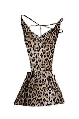 SODIAL(R) Neu Sexy Damen Minikleid Cocktailkleid Club Dress Clubwear Party Tief V Neck - 1