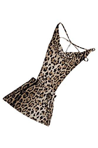 SODIAL(R) Neu Sexy Damen Minikleid Cocktailkleid Club Dress Clubwear Party Tief V Neck - 2