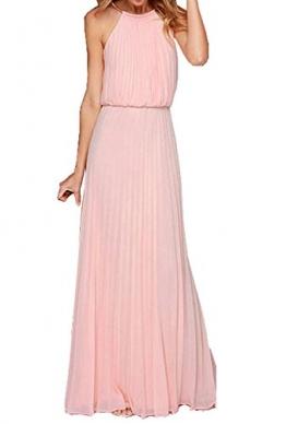 Chiffon kleider lang rosa