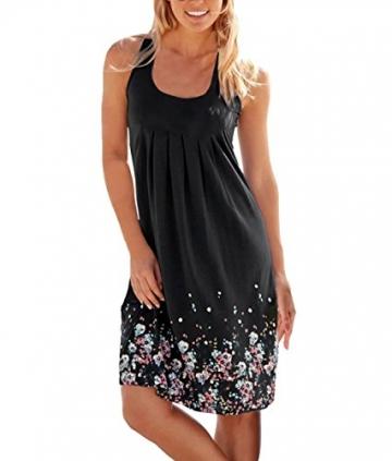 best service f8622 ad37e Sexy Sommerkleid Rundhals mit Blumenmuster
