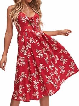 Sommerkleid Rot knielang und ärmelfrei - Strandkleid 1