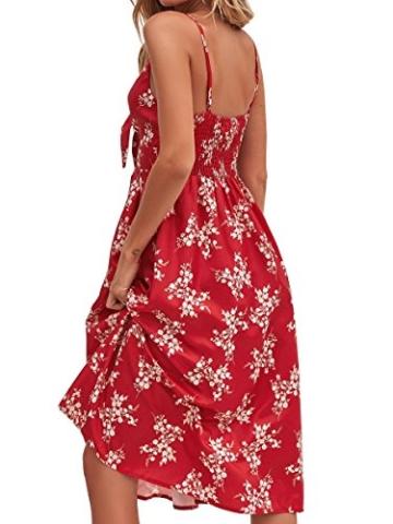 Sommerkleid Rot knielang und ärmelfrei - Strandkleid 2