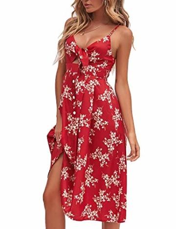 Sommerkleid Rot knielang und ärmelfrei - Strandkleid 3