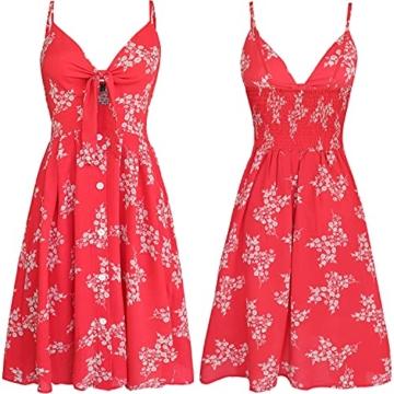 Sommerkleid Rot knielang und ärmelfrei - Strandkleid 4