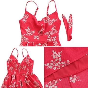 Sommerkleid Rot knielang und ärmelfrei - Strandkleid 5