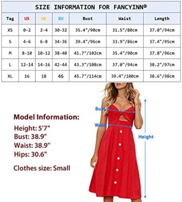 Sommerkleid Rot knielang und ärmelfrei - Strandkleid 6