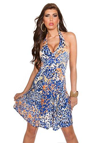 Sommerkleid von Koucla, bunt gemustert (Blau) - 1