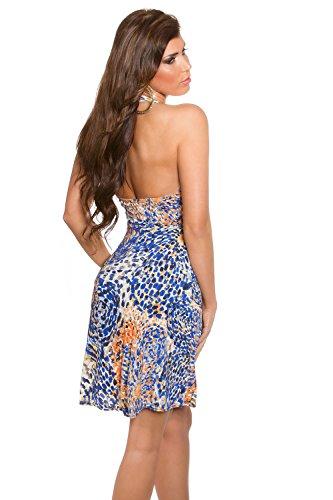 Sommerkleid von Koucla, bunt gemustert (Blau) - 2