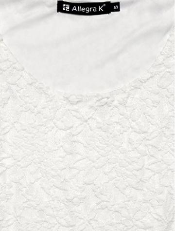 sourcingmap® Allegra K Damen U-Ausschnitt Langarm Freizeit Dress Spitze Skater Kleid -