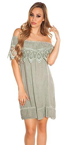 Stand Sommer-Kleid Off Shoulder-Style Carmen Look One Size (Einheitsgröße) - 2