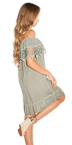 Stand Sommer-Kleid Off Shoulder-Style Carmen Look One Size (Einheitsgröße) - 3