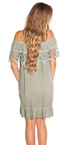 Stand Sommer-Kleid Off Shoulder-Style Carmen Look One Size (Einheitsgröße) - 4