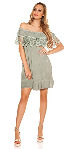 Stand Sommer-Kleid Off Shoulder-Style Carmen Look One Size (Einheitsgröße) - 5