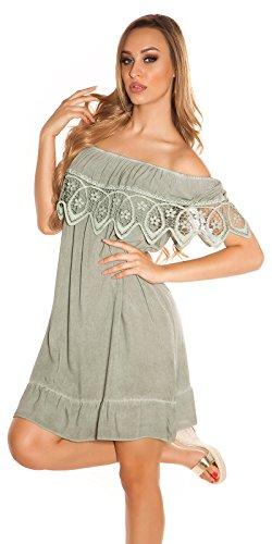 Stand Sommer-Kleid Off Shoulder-Style Carmen Look One Size (Einheitsgröße) - 6