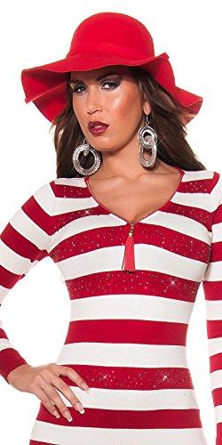 Strickkleid mit Reißverschluss by In-Stylefashion rot -