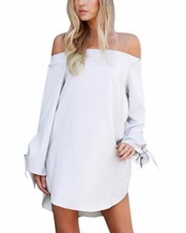 StyleDome Damen Kleid weiß weiß 32 - 1