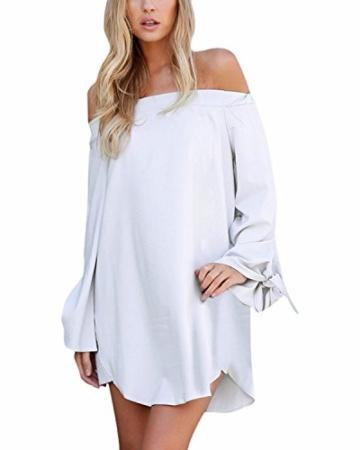 StyleDome Damen Kleid weiß weiß 32 - 2