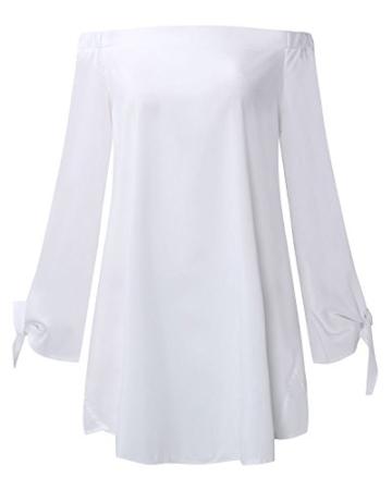 StyleDome Damen Kleid weiß weiß 32 - 3