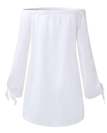 StyleDome Damen Kleid weiß weiß 32 - 4