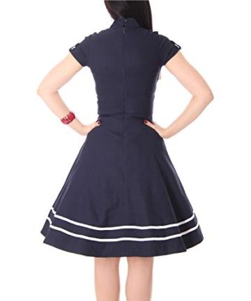 SugarShock Harbor Sailor Matrosen Uniform Petticoat Bolero Kleid, Größe:M, Farbe:Navyblau - 6