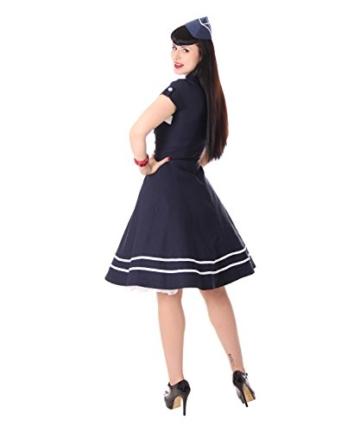 SugarShock Harbor Sailor Matrosen Uniform Petticoat Bolero Kleid, Größe:M, Farbe:Navyblau - 7