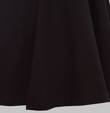 Suimiki Damen ärmellos Rundausschnitt falten A-linie Partykleid mini Cocktailkleid kurz Festliche Kleid-BLM - 5