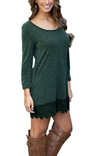 Summer Mae Damen A-line Lace Quaste Beiläufigkeit Herbst Kleid Retro-Look Dress M -