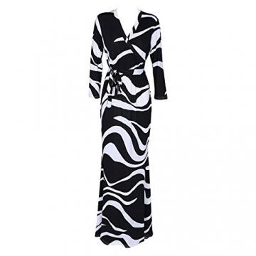 SUNNOW® NEU Damen Kleider Sommer Sexy tief V-Ausschnitt lang Rock Partykleider Abendkleid elegant (EU 38, Schwarz) -