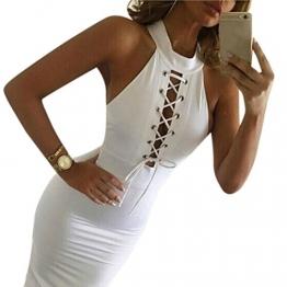 Sunnywill Bandage Club figurbetonten ärmellosen Cocktail Party binden Kleid für Mädchen Damen (XL) -