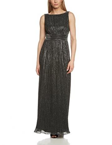 Swing Damen Abendkleid in Maxi-Länge mit Metallfaser, Gr. 42, Schwarz (schwarz/silber 1016) - 1