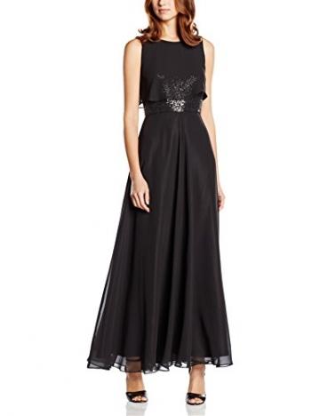 Swing Damen Abendkleid in Maxi-Länge mit Paillettenverzierung am Oberteil, Gr. 40, Schwarz (schwarz 1010) - 1