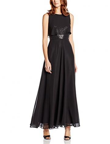 Swing Damen Abendkleid in Maxi-Länge mit Paillettenverzierung am Oberteil, Gr. 42, Schwarz (schwarz 1010) - 1