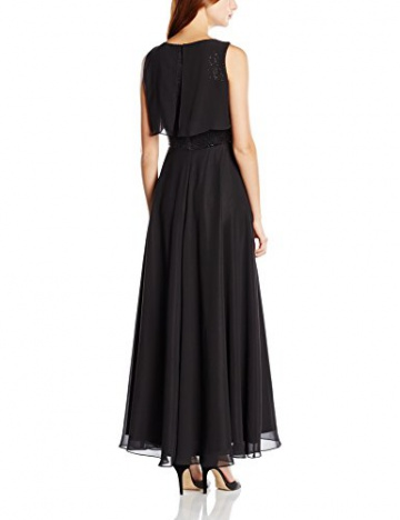 Swing Damen Abendkleid in Maxi-Länge mit Paillettenverzierung am Oberteil, Gr. 42, Schwarz (schwarz 1010) - 2