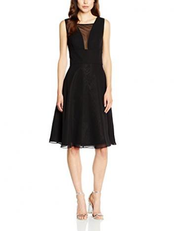 Swing Damen Ärmelloses Kleid mit Netzeinsatz am Dekolleté, Gr. 46, Schwarz (schwarz 100) - 1