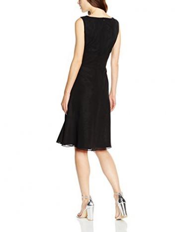 Swing Damen Ärmelloses Kleid mit Netzeinsatz am Dekolleté, Gr. 46, Schwarz (schwarz 100) - 2