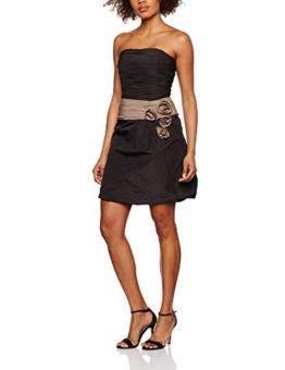 Swing Damen Bustierkleid mit Zierblume, Schwarz (Black/warm taupe 1023), 36 (Herstellergröße:36) - 1
