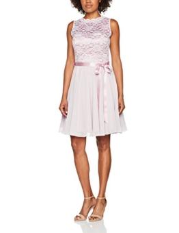 Swing Damen Cocktail Kleid mit floraler Spitze, Rosa (Hellrosa 6969), 38 - 1