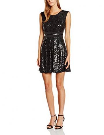 Swing Damen Kleid mit Pailletten, Gr. 34, Schwarz (schwarz 1010) - 1