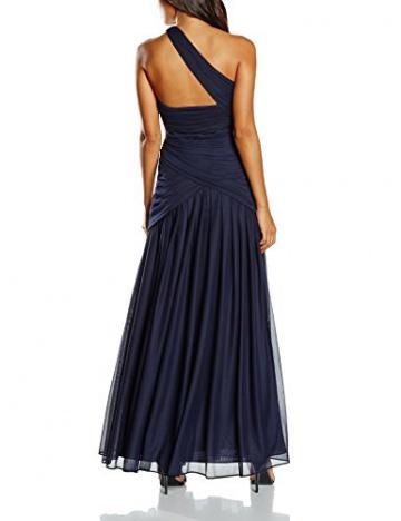 Swing Damen Maxi-Kleid mit One-Shoulder Träger in Wickeloptik, Einfarbig, Gr. 44, Violett (blaulila 420) - 2