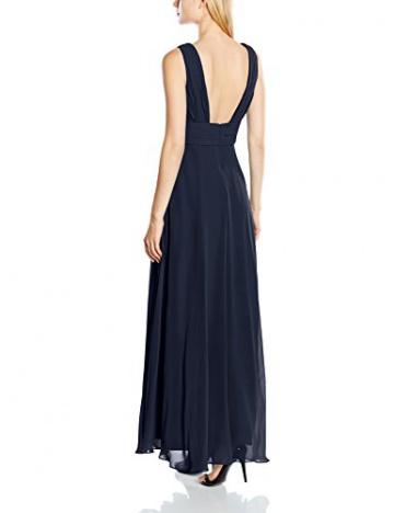 Swing Damen Maxi-Kleid mit verziertem Taillenband, Einfarbig, Gr. 44, Blau (schwarzblau 300) - 2