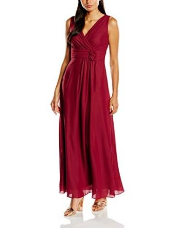Swing Damen Maxi-Kleid mit Zierblume, Gr. 38, Rot (braunrot 620) - 1