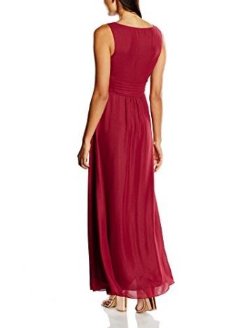 Swing Damen Maxi-Kleid mit Zierblume, Gr. 38, Rot (braunrot 620) - 2