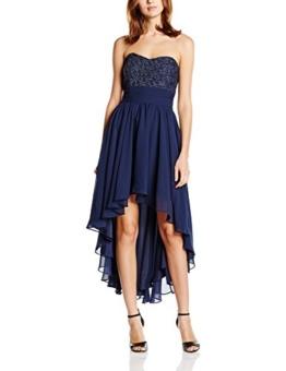 Swing Damen Schulterfreies Kleid im Vokuhila-Stil mit Verzierungen im Brustbereich, Gr. 40, Blau (schwarzblau 300) - 1