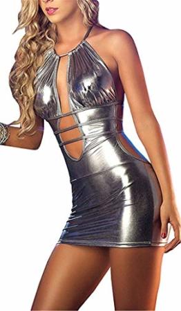 SxyBox Damen Sexy erotische Partykleid Minikleid Bikini Wetlook Clubwear Stripperin Kleid - 1